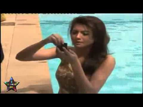 Check Hot  Gauhar Khan\'s Bare Body In A Swimming Pool