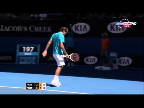 Roger Federer exquisite shot vs Benoit Paire