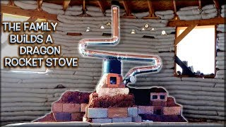 Full Version Show   The Family Builds a Dragon Rocket Stove Mass Heater