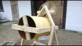 getlinkyoutube.com-Homemade concrete mixer 1