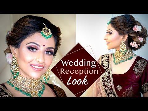 Download Thumbnail For Wedding Reception Makeup Look Indian Bridal