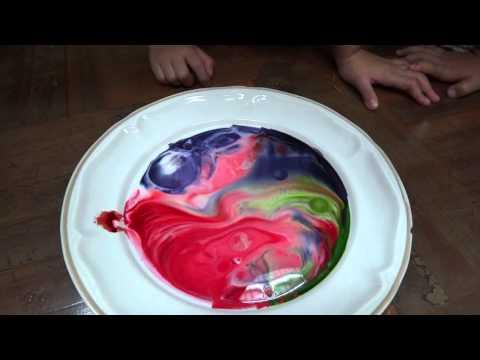 นม+สี+น้ำยาล้างจานสำหรับเด็กอนุบาล