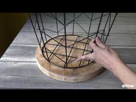 How to Make a Side Table from Wire Basket
