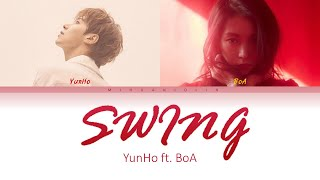U Know Yunho 유노윤호    Swing Feat. BoA 보아 (Han/Rom/Eng) Color Coded Lyrics/가사
