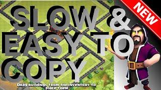 getlinkyoutube.com-Slow & Easy To Copy | The Phantom | COOL NEW Th10 Trophy/War Base | Of Clans