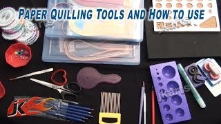 getlinkyoutube.com-Paper Quilling Tools and How to use Quilling Tools -  JK Arts 212