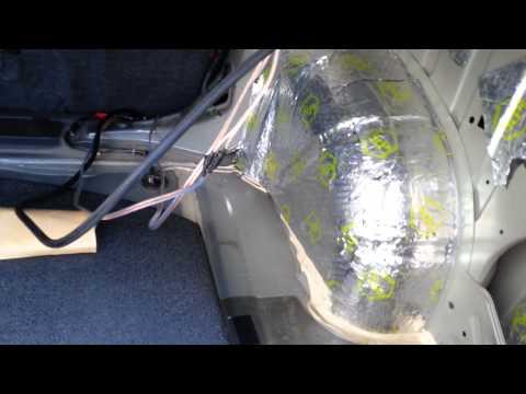 Шумоизоляция задних арок Nissan Teana.