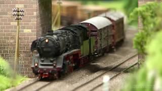 getlinkyoutube.com-Steam Locomotive Model Train Layout