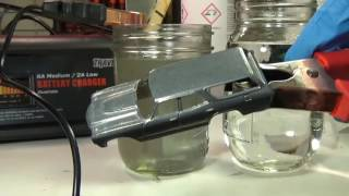 How to electropolish the metal on a diecast car.