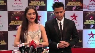 getlinkyoutube.com-Vatsal and Sanjeeda aka Shaurya and Durga at Star Parivaar Awards 2014