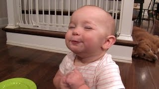 getlinkyoutube.com-Twin Babies Sharing Too Many Marshmallows - PART 1