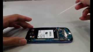 getlinkyoutube.com-SAMSUNG Galaxy S3 i9300 repair fix 拆機教學 拆機影片 維修教學 液晶破裂  無法開機