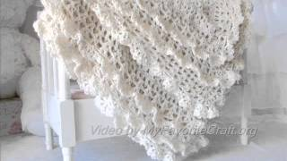 getlinkyoutube.com-Victorian Crochet Baby Blanket . Pattern Presentation