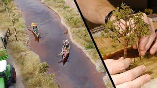 getlinkyoutube.com-Realistic Scenery Volume 3 - Modelling A River - Model Railroad
