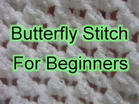 Beginner Crochet Stitches 21  - Butterfly Stitch Increase and Decrease edited - Slow Motion