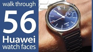 getlinkyoutube.com-56 different Huawei Watch faces - Adroid Wear