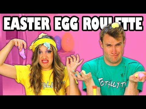 Easter Egg Roulette Margeaux vs Weston crack Easter Eggs on their Heads. Totally TV Videos for Kids