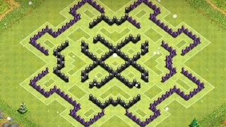 """Clash of Clans - Town Hall 8 Farming base w/ 4 mortars! The """"Scary"""" base!"""