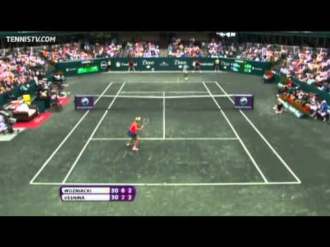 Caroline Wozniacki vs Elena Vesnina 2011 Final Charleston Highlights