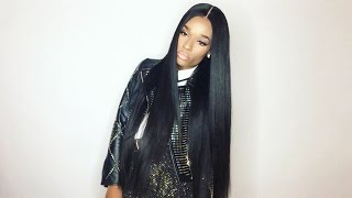 "getlinkyoutube.com-Ali Hair  ( AliExpress ) Brazilian Straight 28"" Hair Review #AVADIM"