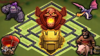 getlinkyoutube.com-Epic Town hall 9 Champion Trophy Base 2 Air Sweeper
