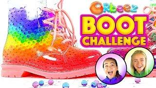 getlinkyoutube.com-Orbeez Filled Boots Challenge with Orbeez Girls   Official Orbeez