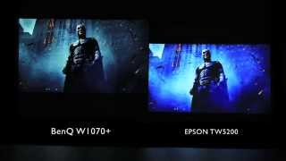 getlinkyoutube.com-BenQ W1070+ Home Projector Side by Side