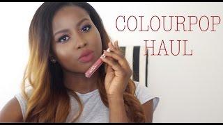 getlinkyoutube.com-ColourPop Haul For Dark Skin | EYE SHADOWS | ULTRA MATTE LIP