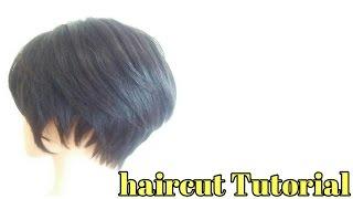 getlinkyoutube.com-女性ショートカット ヘアスタイル 切り方|久留米市美容室|束感セニング