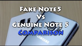 getlinkyoutube.com-Samsung Note 5 Fake VS Genuine Note 5 Comparison, Unboxing and Overview