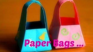 getlinkyoutube.com-PAPER BASKET with Handle || DIY PAPER CRAFTS || ORIGAMI