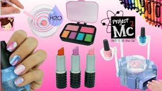 getlinkyoutube.com-Project Mc2 Beauty Experiments H2O Nail Kit DIY Crayon lipsticks Lip Balms