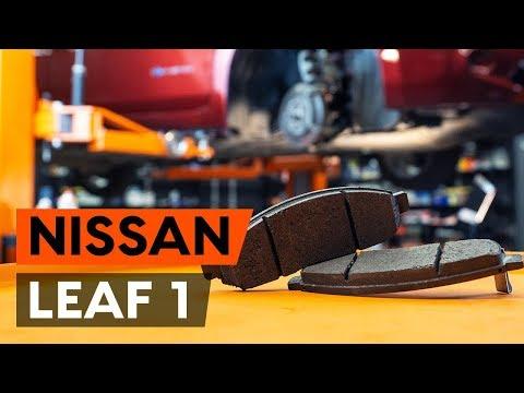 Как заменить тормозные колодки переднего дискового тормоза на NISSAN LEAF 1 (ZE0U) (AUTODOC)