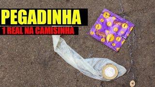getlinkyoutube.com-PEGADINHA 1 REAL NA CAMISINHA (MONEY WITH super glue PRANK)