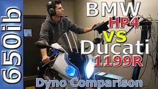 getlinkyoutube.com-BMW HP4 vs Ducati 1199 Panigale R: Comparison--On the Dyno