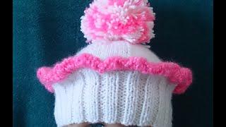 """getlinkyoutube.com-ВЯЗАНИЕ СПИЦАМИ!БЕРЕТ""""КЕКСИК""""ДЕМИСЕЗОННОЕ ВЯЗАНИЕ.knitting"""