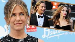 getlinkyoutube.com-People Won't Stop Bringing Jennifer Aniston's Name Into Brad Pitt and Angelina Jolie's Divorce