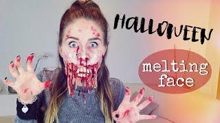 getlinkyoutube.com-Melting Face HALLOWEEN Make Up 👻 ( Schmelzendes Gesicht ) | BibisBeautyPalace
