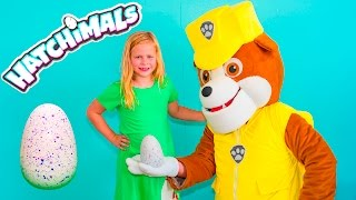 getlinkyoutube.com-HATCHIMALS Assistant Paw Patrol Nickelodeon with Mickey Mouse and Donald Duck Video