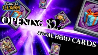 getlinkyoutube.com-Castle Clash: Opening 82 Special Hero Cards! | Castle Clash World Record?