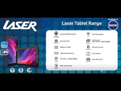 """Laser 10"""" Quad Core IPS Tablet - Black"""