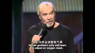 getlinkyoutube.com-George Carlin(喬治卡林) 脫口秀 - 飛機上的演示
