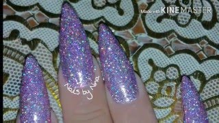 getlinkyoutube.com-💅Raw glitter over gel polish 💅