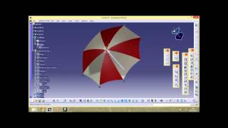 getlinkyoutube.com-CATIA Umbrella design ,surface modeling