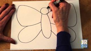 getlinkyoutube.com-Teaching Kids to Draw: How to Draw a Butterfly