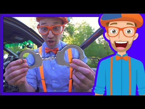Police Cars for Children with Blippi | Educational Videos for Kids