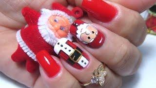 getlinkyoutube.com-Unhas decoradas natalinas( nail art christmas)
