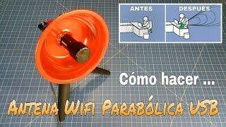 getlinkyoutube.com-CÓMO HACER UNA ANTENA WIFI 2.4 GHz PARABÓLICA CON CONEXIÓN USB. PASO A PASO.