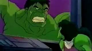 getlinkyoutube.com-She Hulk grows muscular and kicks Dr Doom's butt