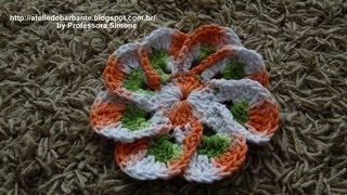 getlinkyoutube.com-Flor em Crochê EURO FLOR